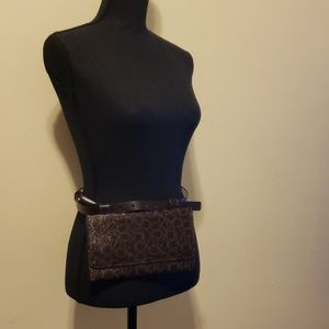 Calvin Klein Glossy Brown Fanny Pack LG